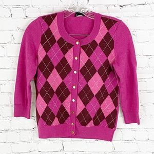 Talbots Pink Plated Cardigan Sweater, SIZE S